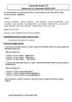 compte rendu du conseil municipal du 1 er Decembre 2020