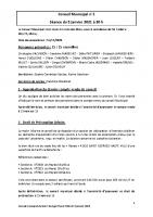 Compte-rendu du conseil municipal du 5 janvier 2021