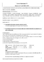 Compte-rendu Conseil Municipal du 7 avril 2021