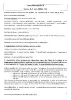 Compte-rendu du Conseil municipal du 9 mars 2021