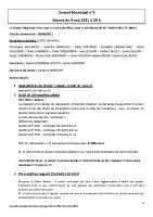 Compte-rendu du conseil municipal du 4 mai 2021