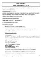 Compte-rendu conseil municipal du 6 juillet 2021